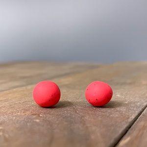 NEW Titanium Posts | Red Pop Color Studs